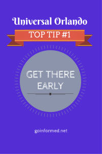 Universal Orlando Top Tip #1: Get there early!