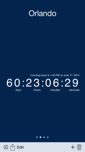 Countdown the seconds to your vacation!