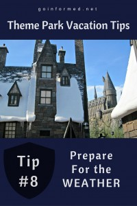 Theme Park Tip #8: Be Prepared for Local Weather