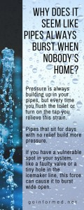 Why do pipes always burst when nobody's home?