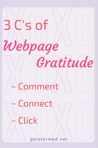 The 3 C's of Webpage Gratitude