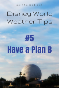 Disney World Weather Tip #5: Have a Plan B