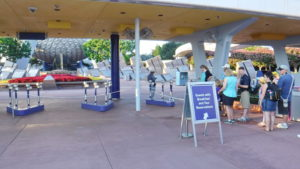 Guests With Breakfast Reservations Enter Through A Special Line at the Park