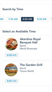 You Can Book Your Dining Reservation Directly Through the My Disney Experience App
