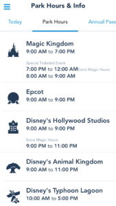 Use the My Disney Experience App to Keep an Eye on Ever-Changing Park Hours