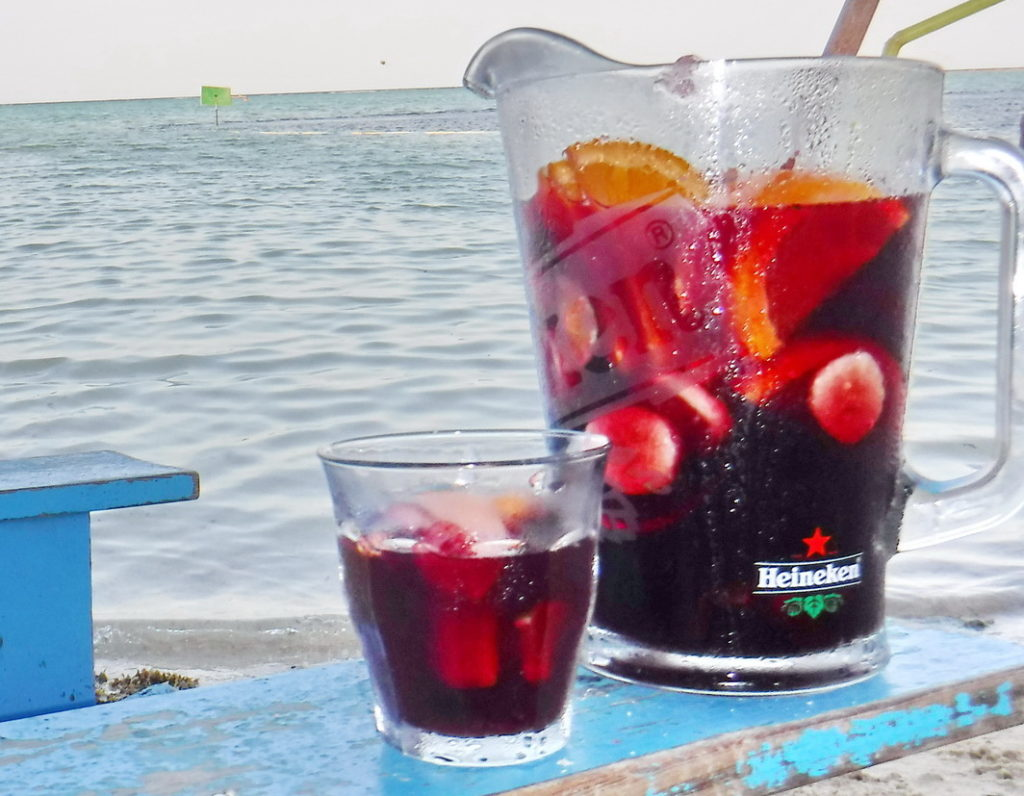Refreshing sangria at Hang Out Beach Bar