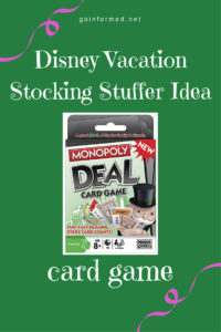 Disney Vacation Stocking Stuffer Idea: card game