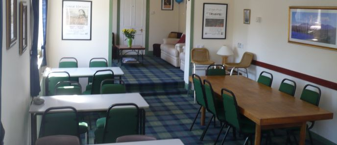 Living & Dining Rooms at SkyeWalker Hostel
