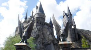 The Harry Potter and the Forbidden Journey ride at Universal Orlando is located inside Hogwarts castle in the Islands of Adventure Park
