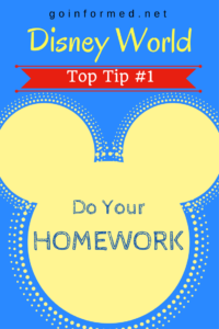 Disney World Top Tip #1: Do Your Homework