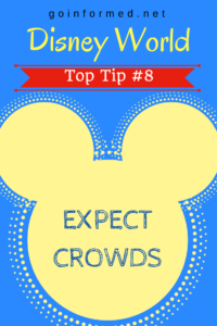Disney World Top Tip #8: Expect Crowds