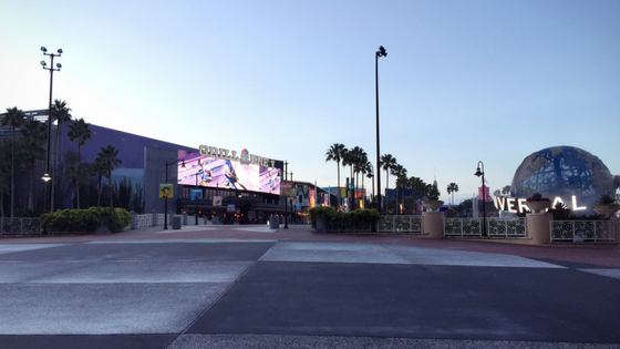 Early morning at Universal Orlando's CityWalk.
