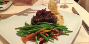 Steak dinner at Disney World's Brown Derby Restaurant