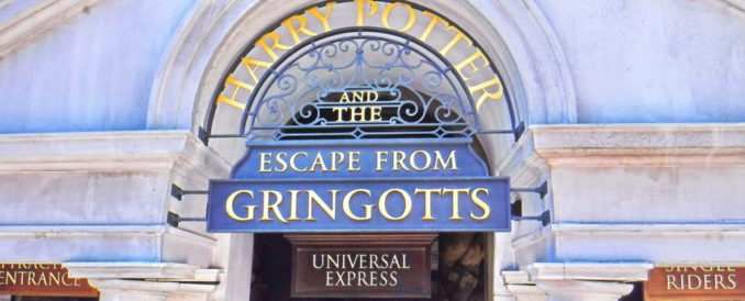 Gringotts sign at Universal Studios Florida